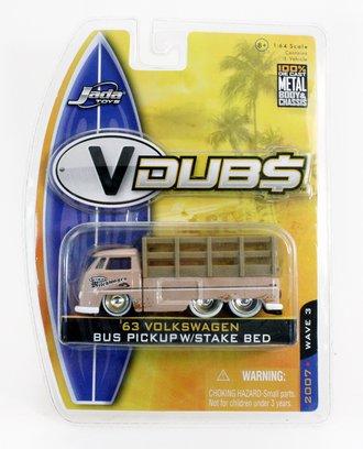 "V-Dub$ '63 Volkwagen Bus Pickup w/Stake Bed ""Helmut"" (Cream)"