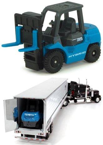1:64 Toyota Geneo 35 Hybrid Forklift (Blue/Gray)