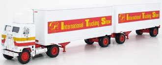 "Freightliner COE w/Double Trailers ""International Trucking Show"" (White)"