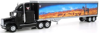 "Freightliner Semi w/48' Trailer ""Karl Malone Enterprises Trucking"" (Black)"
