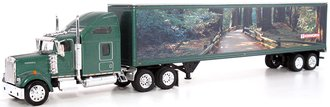 "Kenworth W900L w/48' Trailer ""Kenworth - Woods"" (Green)"