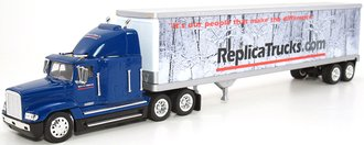 "Freightliner Semi w/48' Trailer ""Replica Trucks"" (Blue/White)"