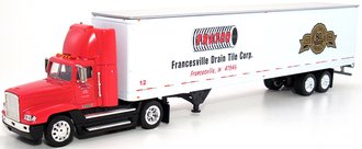 "Freightliner Semi w/48' Trailer ""Fratco"" (Red/White)"