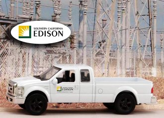 "1:43 Ford F-250 Super Duty Pickup ""Edison - Southern California"""