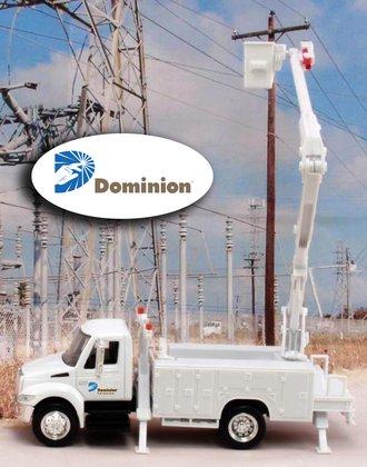 "1:43 International Bucket Truck ""Dominion Power"""