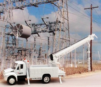 "1:43 International Auger Truck ""American Electric Power - Southwestern"""