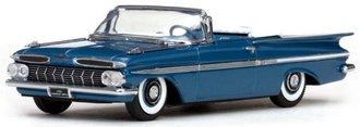1:43 1959 Chevy Impala Convertible (Harbor Blue Metallic)