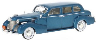 1:43 1939 Cadillac Series 75 Fleetwood V8 Sedan (Dark Turquoise Metallic)