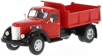 1:43 1948 International KB-7 Dump Truck (Red/Black)