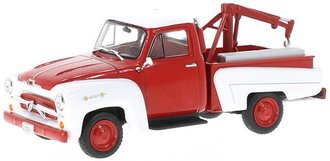 1:43 1956 Chevy 3100 Tow Truck (Red/White)