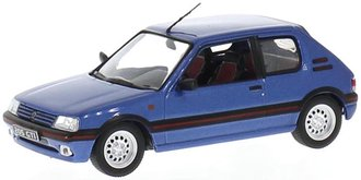 1:43 1992 Peugeot 205 GTI (Blue Metallic)