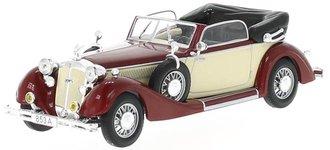 1938 Horch 853A Cabriolet (Dark Red/Beige)