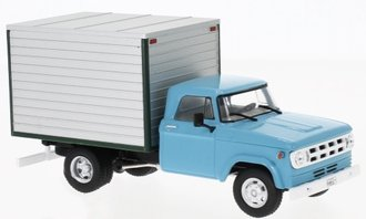 1:43 1971 Dodge D-400 Box Van (Light Blue/Gray)