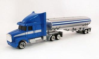 WhiteGMC Aero ES w/Tanker (Blue/Silver) (1:64 Tractor w/Undersized Trailer)