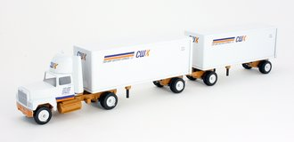 """Ford 9000 Day Cab w/Double Pup Trailers (2) """"CWX"""""""