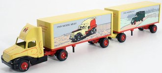 """International 8300 Tractor w/Double Pup Trailers (2) """"International Historical Series"""" #7"""