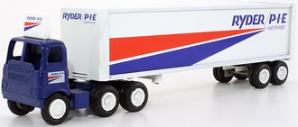 """White 5000 COE Day Cab Prime-Mover w/Van Trailer """"Ryder/P*I*E Nationwide"""""""