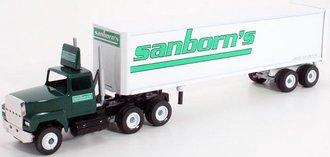 "Ford 9000 Tractor w/Van Trailer ""Sanborn's"""