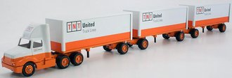 "International 8300 Tractor w/Triple Pup Trailers (3) ""TNT - United Truck Lines"""