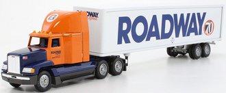 "Freightliner FLD 120 High-Roof Sleeper w/Van Trailer ""Roadway 70th Anniversary"""