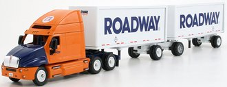 """Kenworth T2000 High-Roof Sleeper w/Double Pup Trailers (2) """"Roadway"""""""