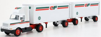 """International 8300 Day Cab w/Double Pup Trailers (2) """"CF - Consolidated Freightways"""""""