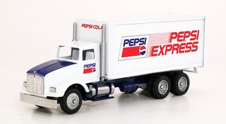 """Kenworth T800 Box Delivery Truck """"Pepsi Express"""" (White)"""