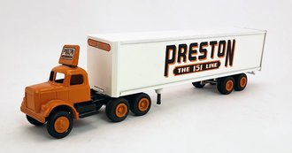 "White 9000 Tractor Day Cab w/Van Trailer ""Preston - The 151 Line"""