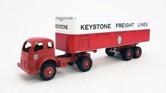 "White 3000 COE Tractor w/Van Trailer ""Keystone Freight"""