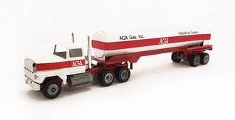 "Ford 9000 Tractor w/Tanker Trailer ""AGA"" (White/Red)"