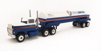 "Ford 9000 Tractor w/Tanker Trailer ""CryoInfra"" (Blue/White)"