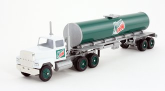 """Ford 9000 Day Cab w/Cylindrical Tanker Trailer """"Mountain Dew"""""""