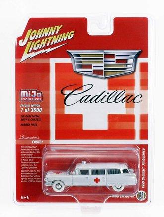 White Lightning 1:64 1959 Cadillac Ambulance (White)
