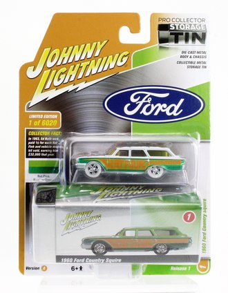 """White Lighting 1:64 1960 Ford Country Squire """"Rat Fink"""""""
