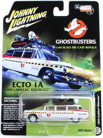 White Lightning 1:64 Ghostbusters™ II Ecto-1A 1959 Cadillac Ambulance