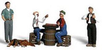 O Men Playing Checkers, Standing Men & Dog (5)