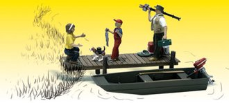 O Family Fishing (3) w/Boat & Dock