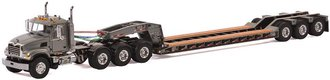 Mack Granite 8x4 w/3-Axle Flip Rogers Lowboy (Gray)