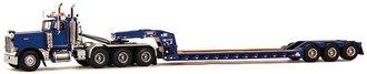 Peterbilt 379 w/Rogers 3-Axle Lowboy Trailer (Blue)