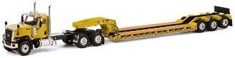 Caterpillar CT680 6x4 w/Rogers 3-Axle Lowboy (Yellow)