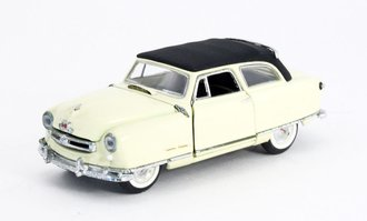 1950 Nash Rambler (Yellow w/Black Roof) *** Broken Hood Ornament & Bad Decal ***