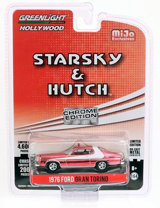 Chase 1:64 Starsky & Hutch 1976 Ford Gran Torino (Silver Chrome) *** Loose Steering Wheel ***