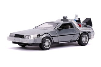 1:24 Hollywood Rides - Back To The Future Part II Time Machine w/Lights *** Box Damage ***