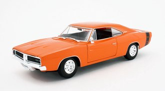 1:18 1969 Dodge Charger R/T (Orange) *** Box Damage ***