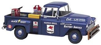 "1956 Chevy 3100 Pickup ""Mobilgas Battery Service"""
