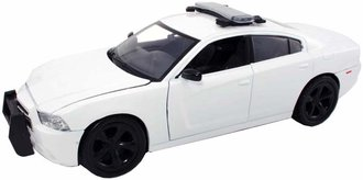 1:24 Dodge Charger Pursuit Police Car (White - Undecorated) w/Light Bar *** Repaired Chassis ***