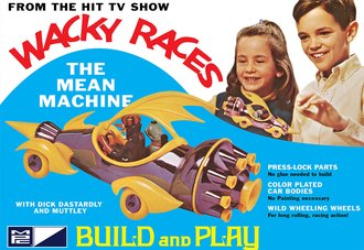 Wacky Races - Mean Machine (SNAP Model Kit) *** Missing One Wheel Section ***