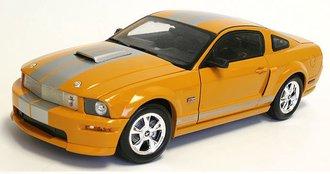 2008 Shelby GT (Orange w/Silver Stripes)