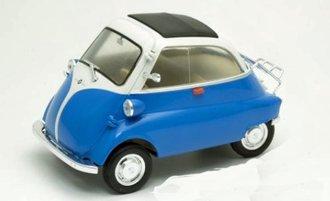 BMW Isetta 250 (Blue/White) *** Broken Mirror ***