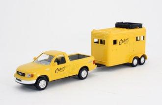 "Ford Pickup Truck w/Horse Trailer ""Claiborne Farm"" (Yellow)"